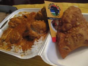 Global Cafe Peanut Stew and Fish Empanadas
