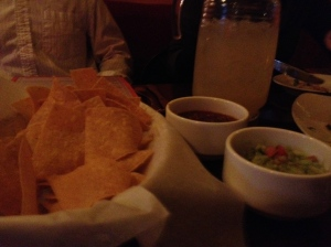 The four food groups: chips, salsa, guac, 'ritas, at Casa Oaxaca