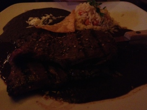Terrible photo of awesome mole at Casa Oaxaca