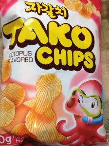 Junichi the Hexapus says mmmm, Tako Chips