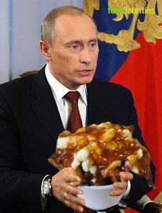 Putin with poutine
